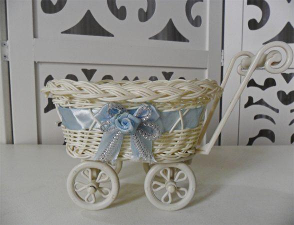 Locação de Carrinho de Bebê Com Cesto Fita Azul