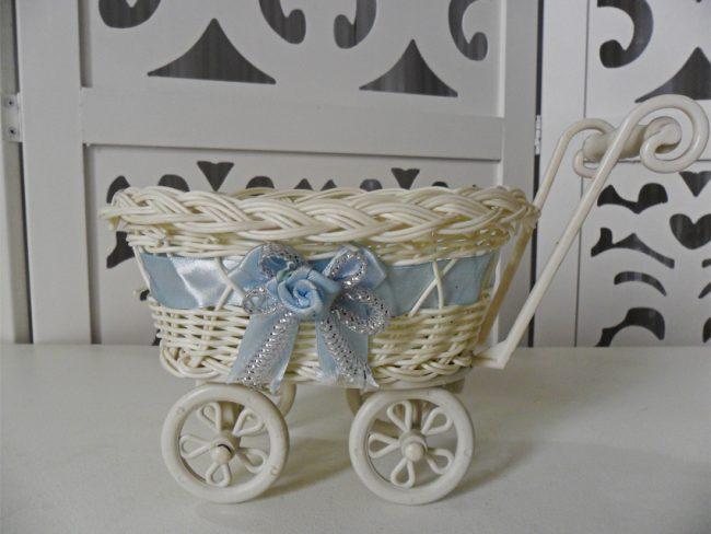 Carrinho de Bebê Fita Azul