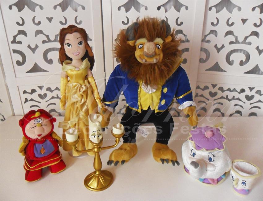 Locação de Kit Personagens A Bela e a Fera Para Festa Infantil