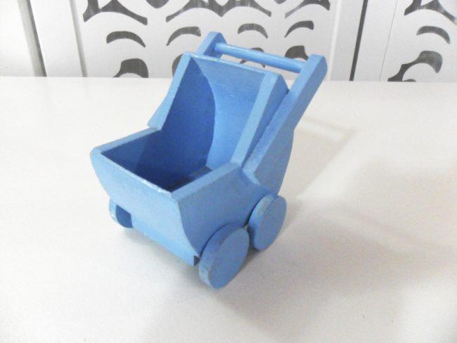 Mini Carrinho de Bebê Azul
