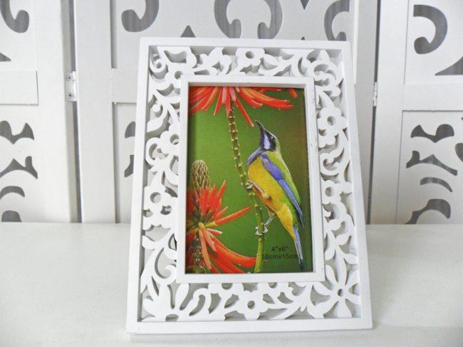 Porta Retrato Floral Plás