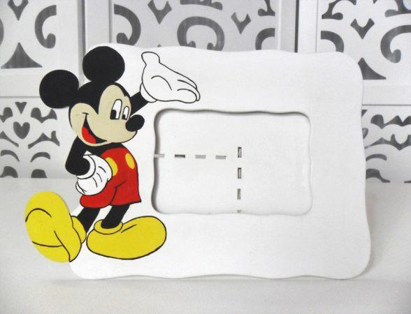 Locação Porta Retrato Mickey Mouse de Mesa Branco