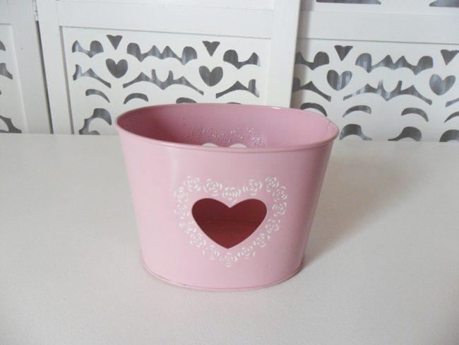 Jardineira Coração Rosa