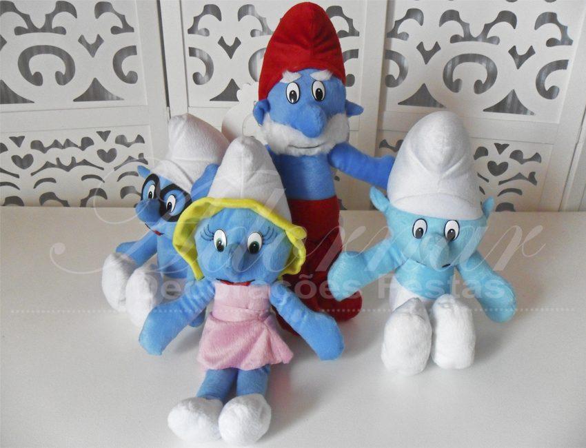 Locação de Kit Personagens Smurfs Para Festa Infantil