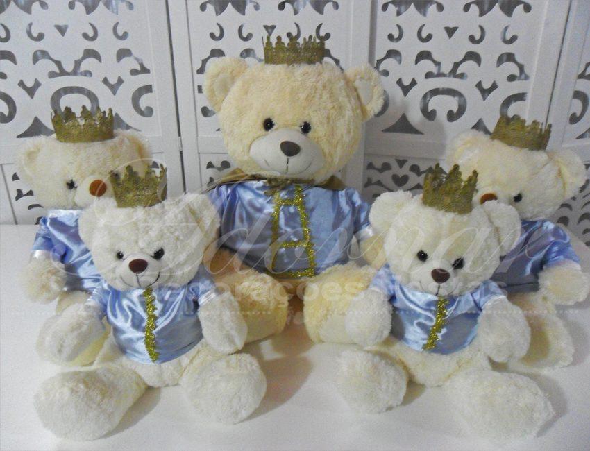 Locação de Kit Personagens Ursos Príncipes Para Festa Infantil e Chá de Bebê
