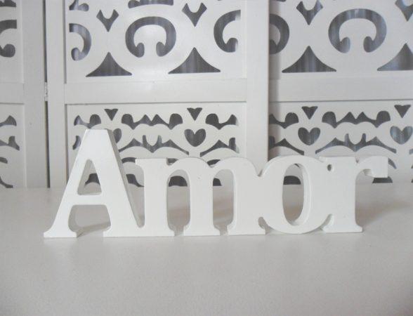 Locação de Letreiro Amor Branco de Mesa em Provençal