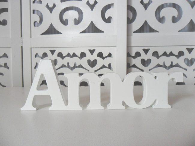 Letreiro Amor Branco