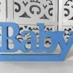 Locação de Letreiro Baby Azul de Mesa em Provençal