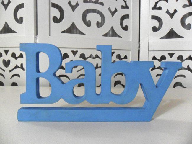 Letreiro Baby Azul