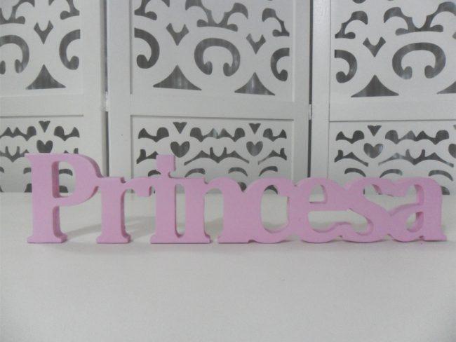 Letreiro Princesa Rosa