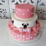 Locação de Bolo Cenográfico Minnie Mouse Rosa Para Festas e Eventos
