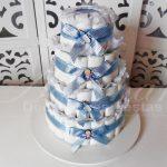 Locação de Bolo de Fraldas Chá de Bebê Azul e Marrom Para Festas e Eventos