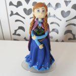 Locação de Topo de Bolo da Anna Frozen em Biscuit