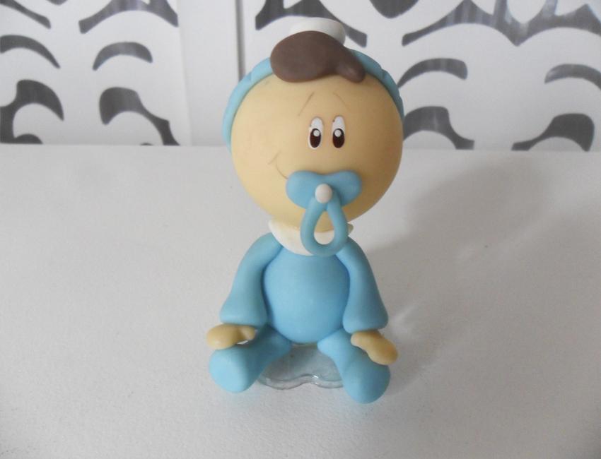 Locação de Topo de Bolo Menino Azul em Biscuit