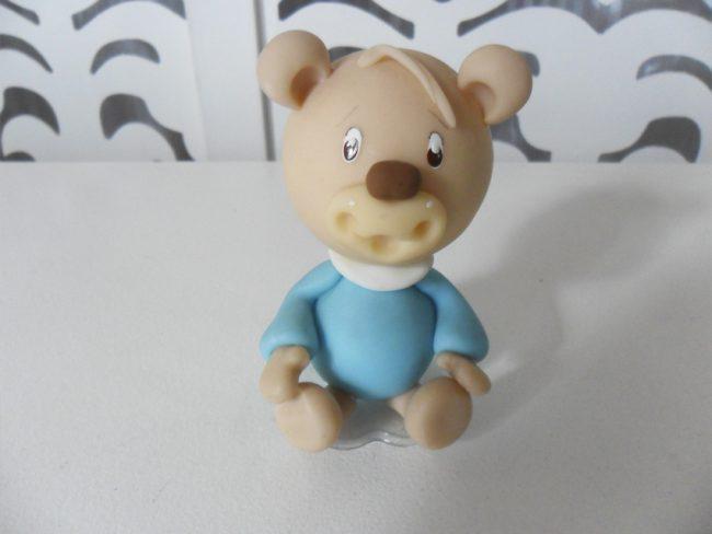 Topo Bolo Ursinho Azul