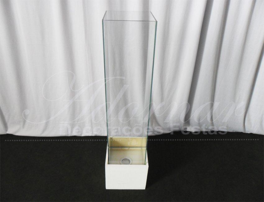 Locação de Coluna de Vidro Com Caixa de Luz
