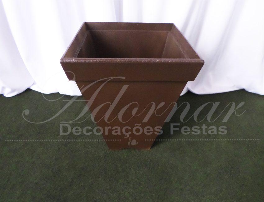 vaso cachepô de chão pequeno marrom