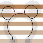 Aluguel de Estrutura Arco de Balões Orelha da Minnie e Mickey Para Festas e Eventos
