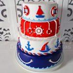 locacao de bolo cenografico marinheiro para festas e eventos