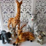 aluguel kit personagens safari para decoração de festa infantil