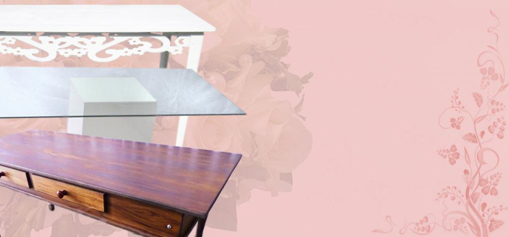 aluguel de mesas provençais rústicas de vidro e mini table para decoração de festas mesa do bolo