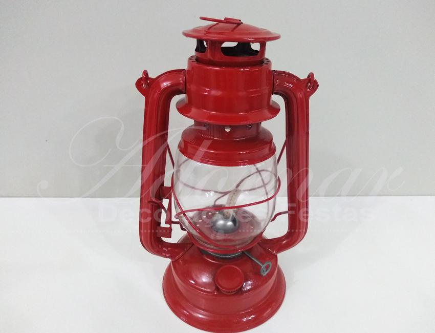 Locação de Lamparina Lampião Grande em Vermelho