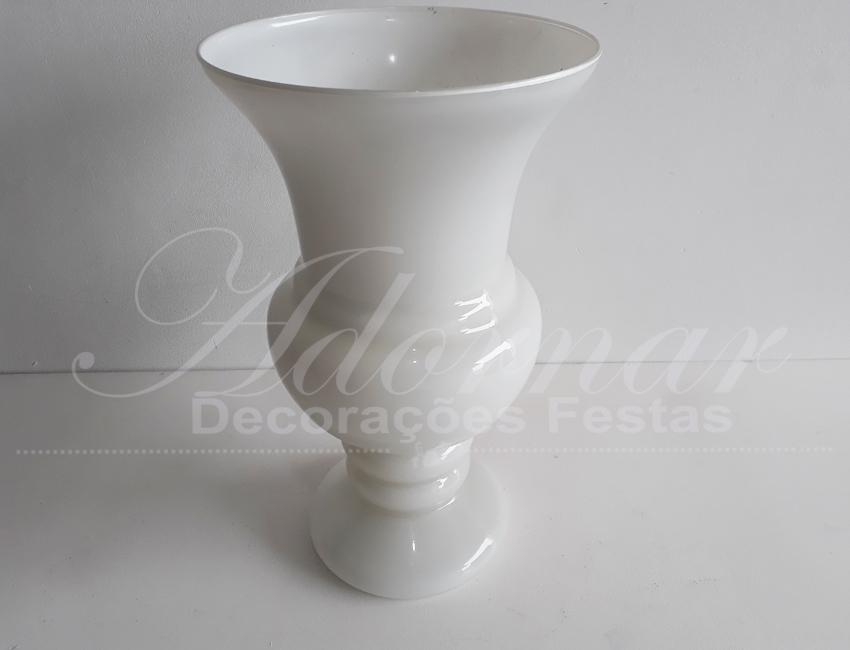 Locação Vaso de Vidro Itália Branco Grande