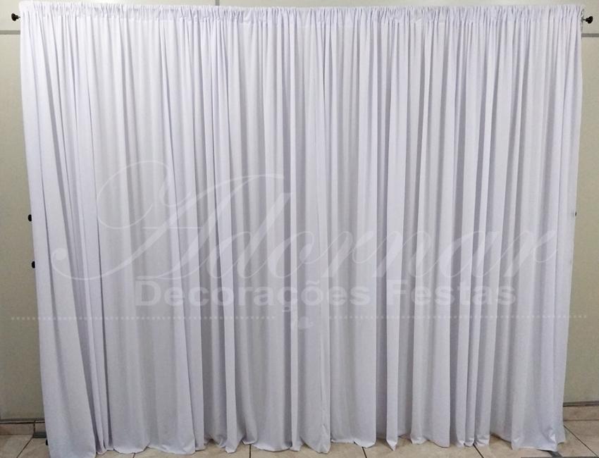 aluguel de painel de cortinas branco para decoração de festa