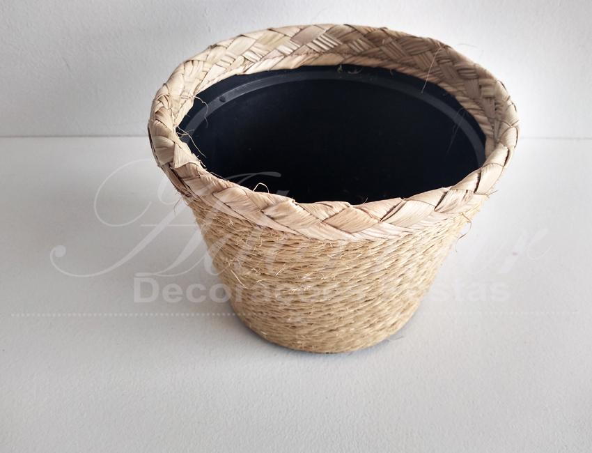 Locação Vaso Cachepô de Palha