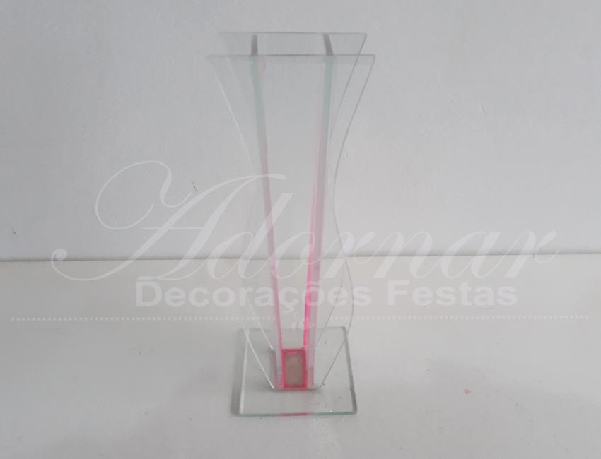 Locação Vaso Solitário Taça Transparente de Vidro