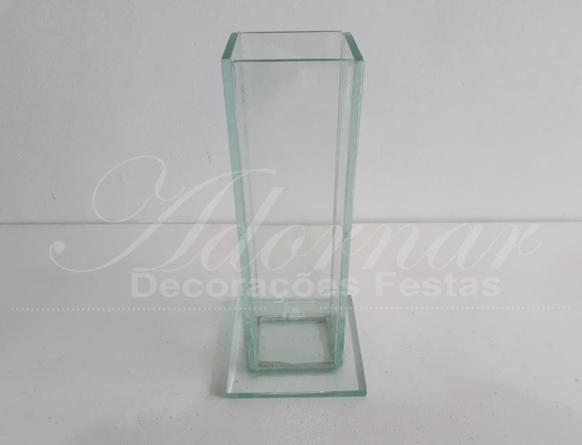 Locação Vaso Solitário Grande Transparente de Vidro