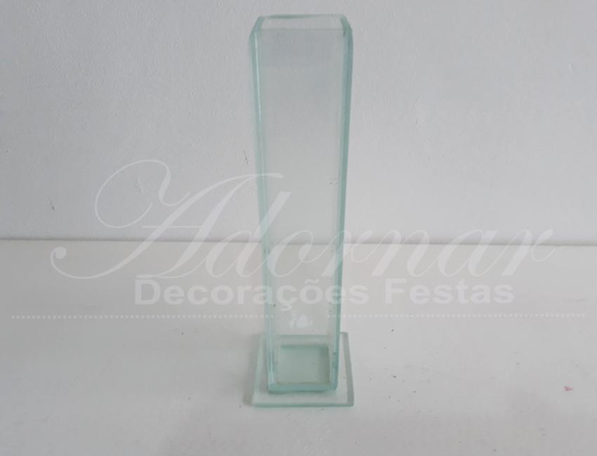 Locação Vaso Solitário Pequeno Transparente de Vidro