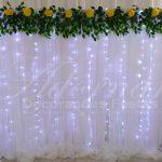 aluguel de painel de cortinas branco com led decoração festas