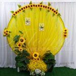 aluguel de painel redondo com flores de girassol casamento aniversário festas