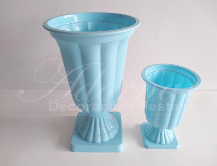 Locação Jogo de Vaso Grego Taça Romana Azul