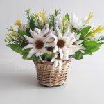 Locação Mini Vaso de Vine Com Arranjo de Flores Pequeno